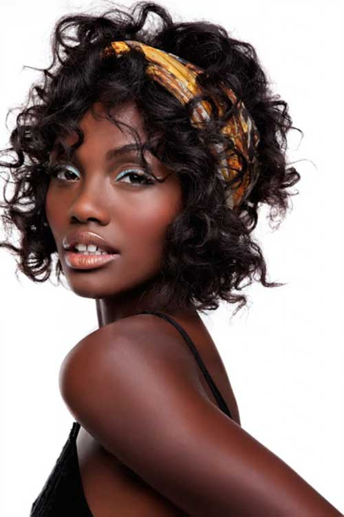 Short Curly Hair for Black Women Headband