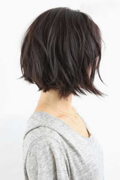 Short Textured Choppy Bob