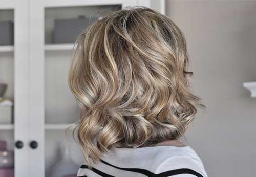 Blonde Softly Curl Short Hairstyle
