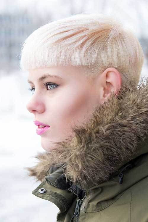 Super Short Pixie Fine Hairstyle Blonde
