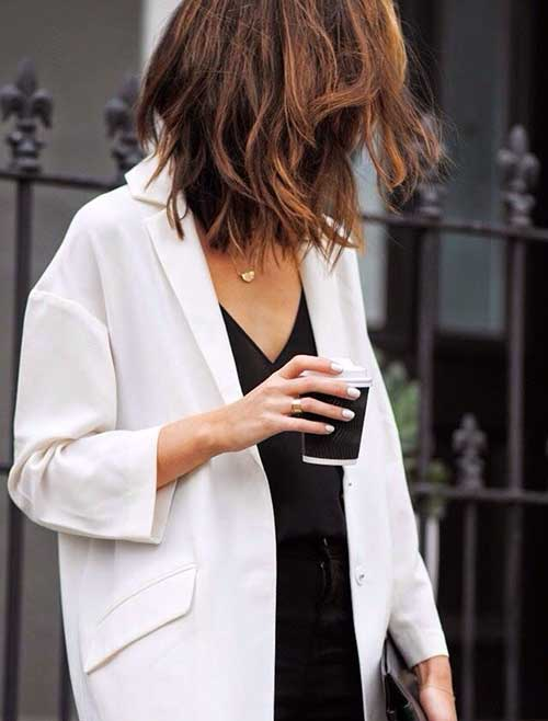 Trendy Brown Bob Choppy 2014-2015