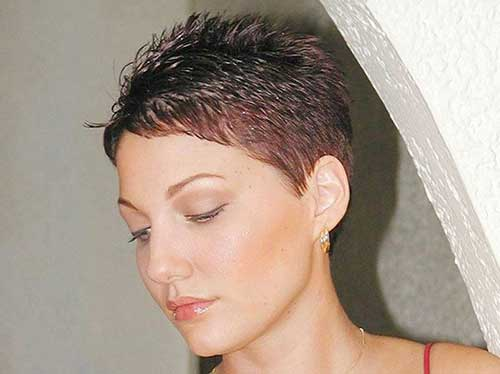 Very Short Layered Pixie Cuts