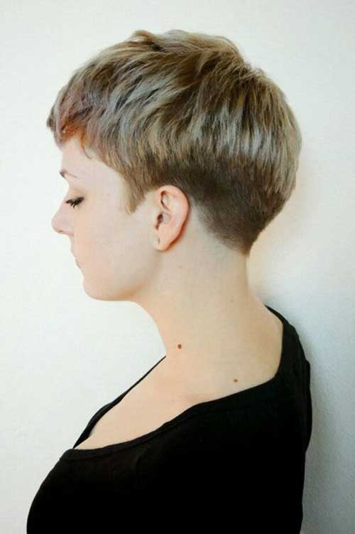 Very Short Pixie Back View Look