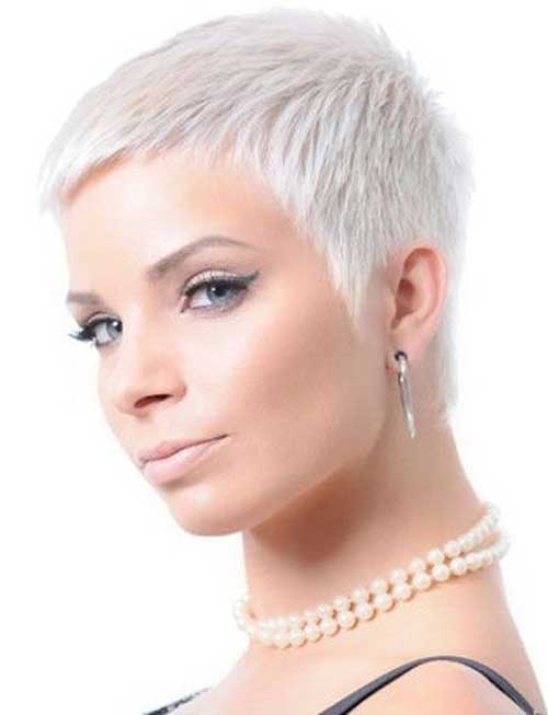 Very Short Blonde Pixie