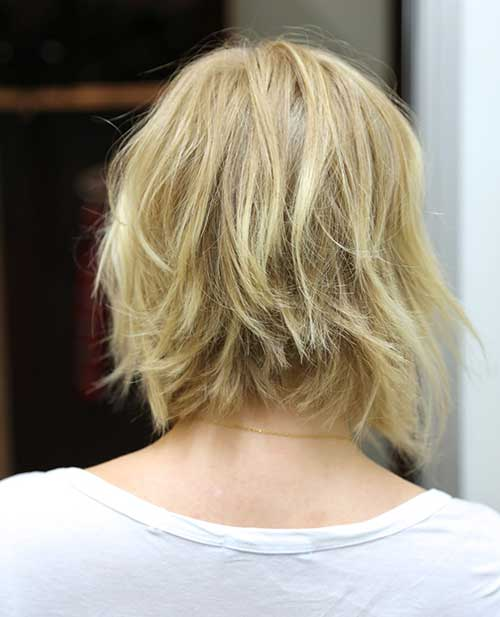 Wavy Bobs Back View Choppy Style 2015