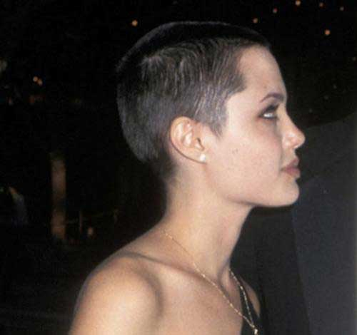 Angelina Jolie Shaved Hair