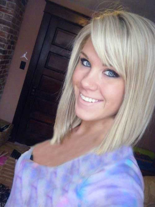 Prime Angled Bobs With Bangs Short Hairstyles 2016 2017 Most Hairstyles For Women Draintrainus