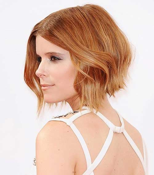 Inverted Angle Bob Honey Brown Color