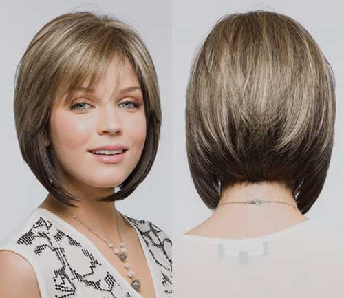 Peachy Angled Bobs With Bangs Short Hairstyles 2016 2017 Most Hairstyles For Men Maxibearus