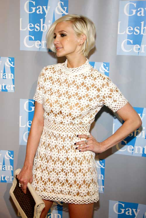 Ashlee Simpson Hair with Blonde Color