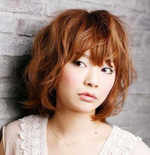 Cute Asian Short Hairstyles for Round Faces