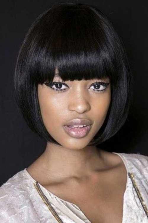 Dark Bang and Bob Hair for Black Female