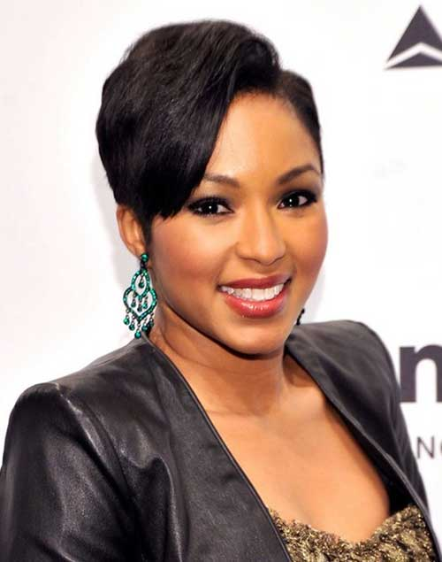 Black Hair Short on One Side Long Trends