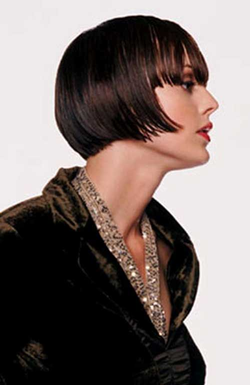 Blunt Bangs on Bob Cut
