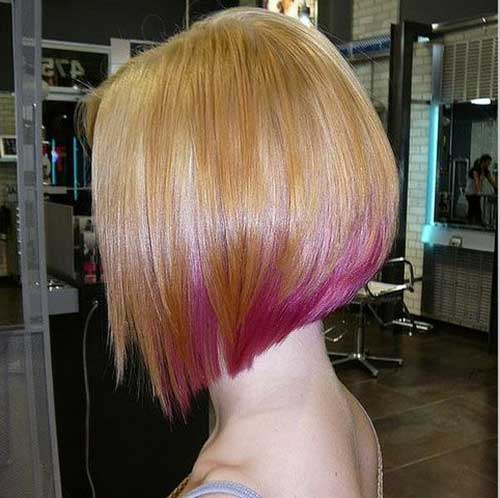 Inverted Bob Hair Dye