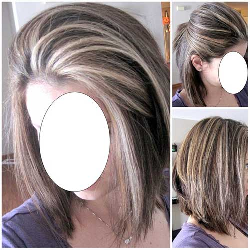 Wavy Dark Short Bob Haircut With Honey Blonde Balayage Highlights