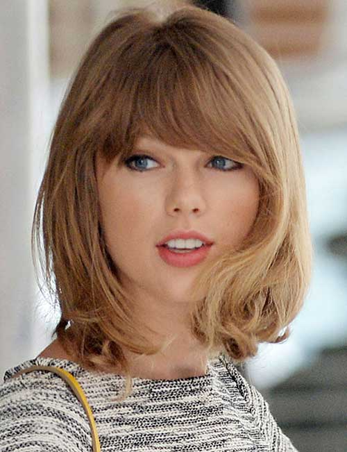 Taylor Swift Bob Haircuts with Bangs
