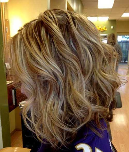 Brown Hair with Blonde Highlights Wavy Hair