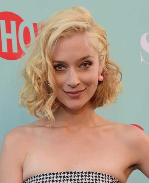Caitlin Fitzgerald Short Curly Hairstyle