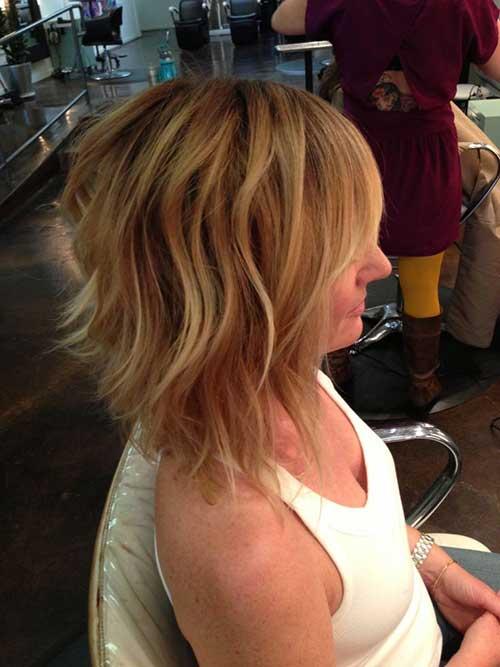 Wavy Hair with Caramel Balayage Highlights