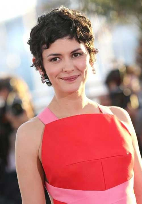 Audrey Tautou Short Curly Hair