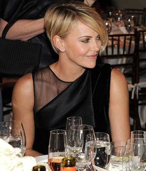 Charlize Theron Long Pixie