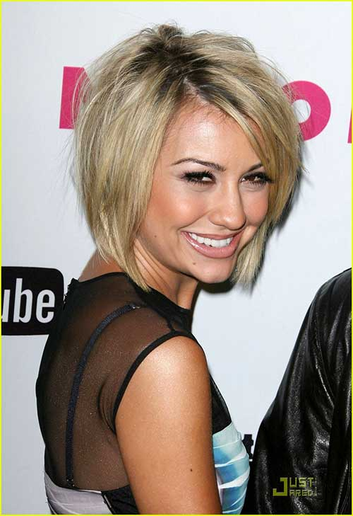 Chelsea Kane Hair Side Swept Stacked Bob