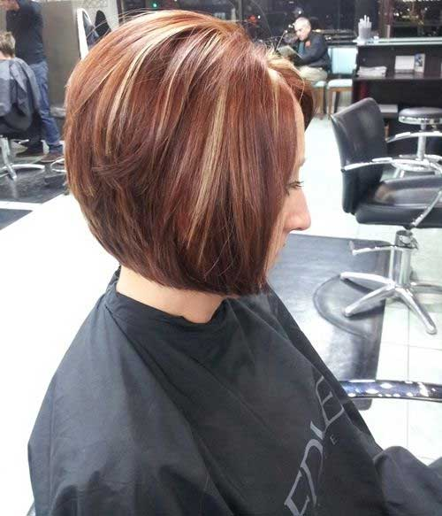 Chestnut Colored Stacked Bob
