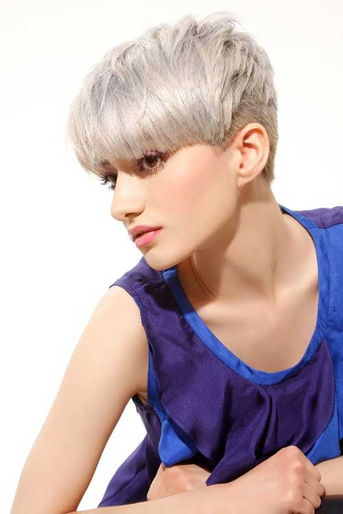 Grey Color Ideas for Short Hair 2014
