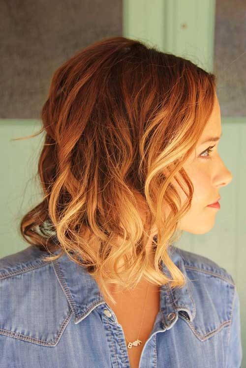 Ginger Ombre Colored Short Hair