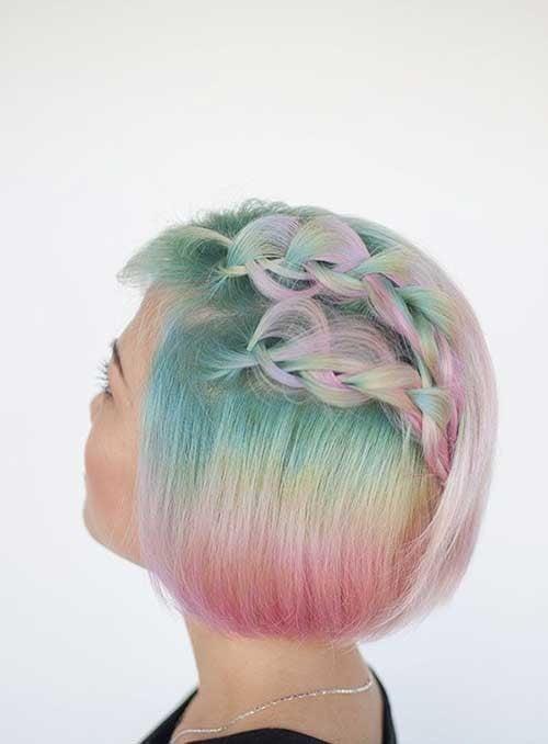 Colorful Short Bob Hair