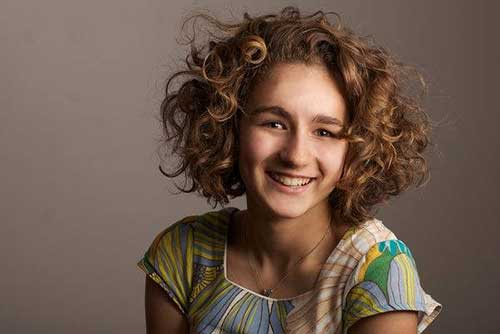 Cute Curly Hair Girl