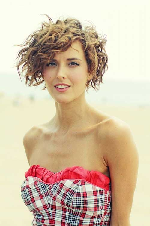 Tremendous Short Haircuts For Girls With Curly Hair Short Hairstyles 2016 Hairstyles For Men Maxibearus