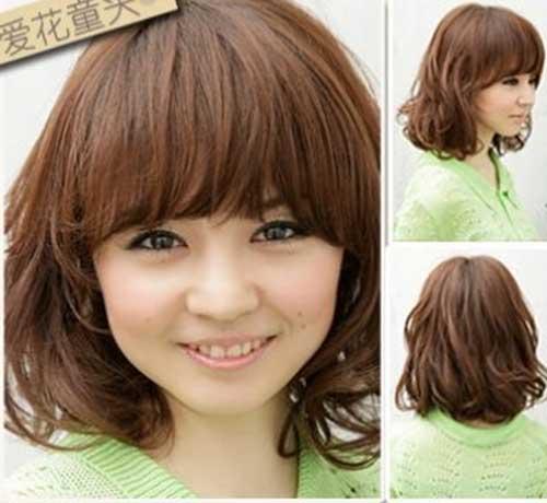 Cute Asian Wavy Hairstyles