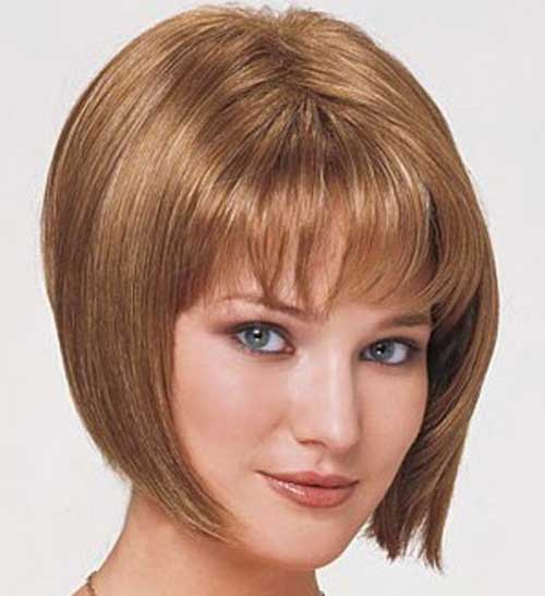 Short Layered Bob Hairstyles With Bangs: Graduated Bob Haircut Pictures
