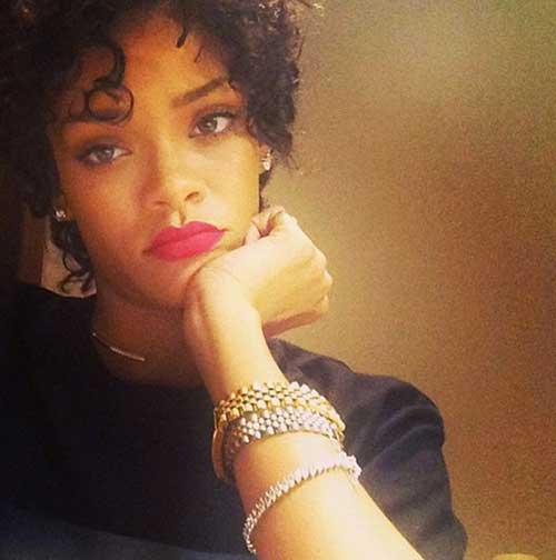 Rihanna Cute Short Haircuts for Black Females
