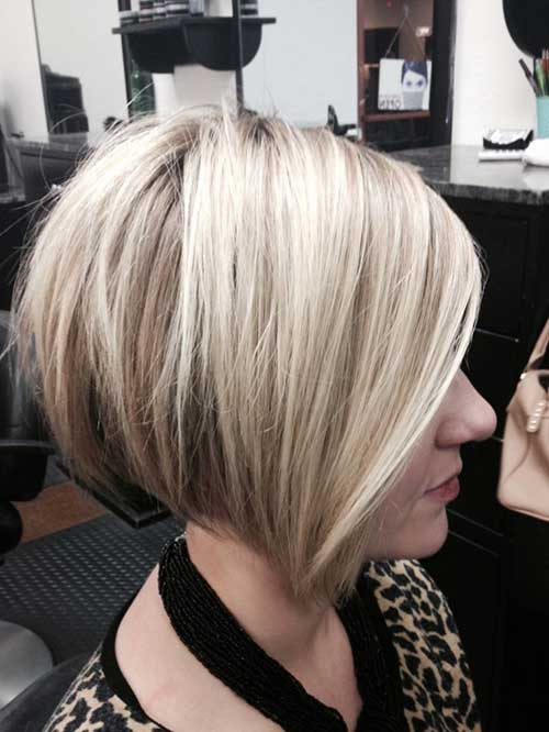 Simply Cute Stacked Bob Haircut for Girls