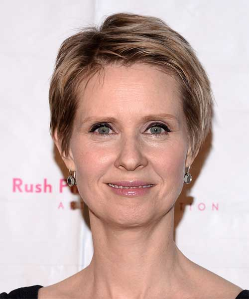 Cynthia Nixon Casual Straight Hair
