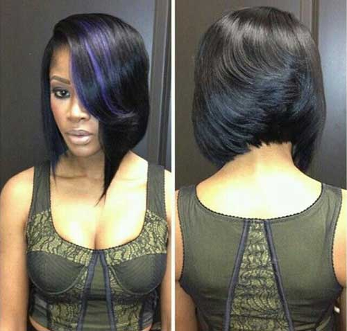 Dark Blue Lighted Bob Hair for Black Women