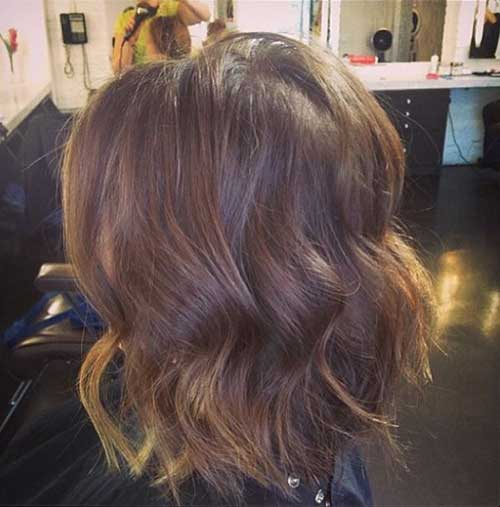 Dark Brown Beach Wavy Hair
