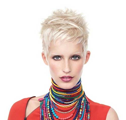 Different Platinum Spiked Pixie Haircuts 2015