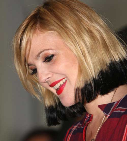 Drew Barrymore Two Tone Hair
