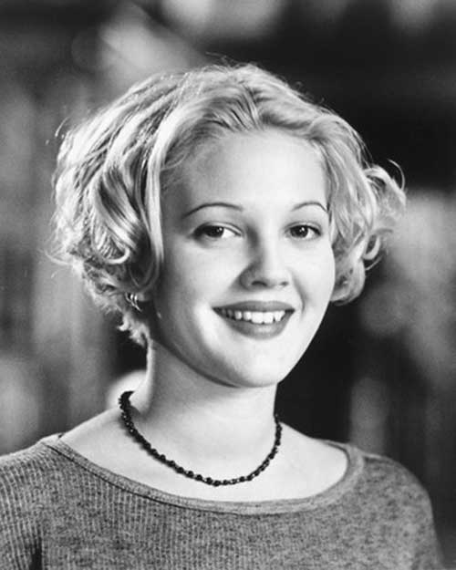 Drew Barrymore Curly Short Hairstyle