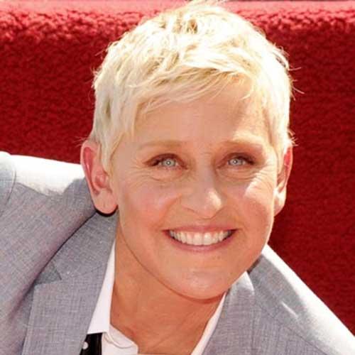 Ellen DeGeneres Pixie Short Hairstyles