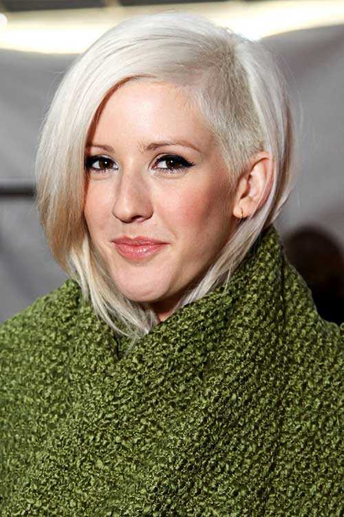 Ellie Goulding S Asymmetrical Haircut With Shaved Side