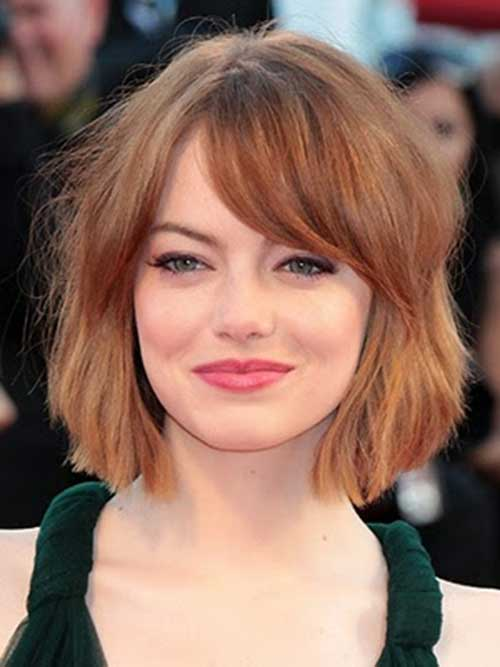 Emma Stone Bob Hair and Bangs