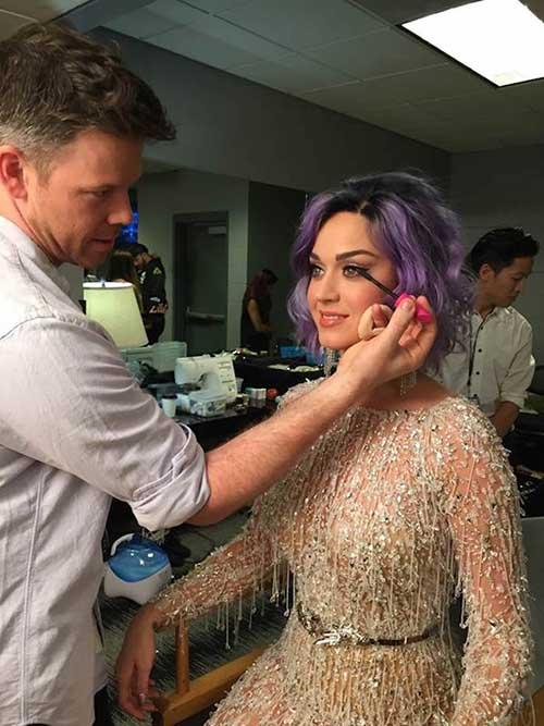 Katy Perry Female Celebrities Short Hair