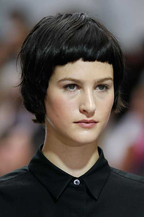 Fine Hair Very Short Bangs Hairstyle