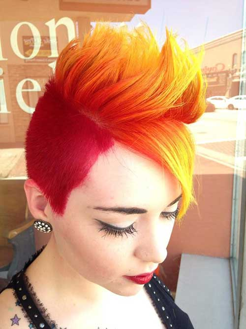 Fire Short Hair Colored