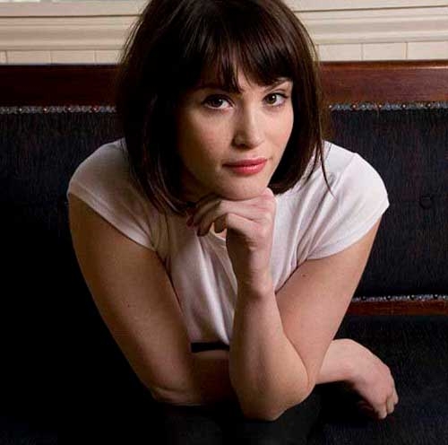 Gemma Arterton Bangs on Short Hair